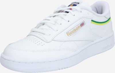 Sportbačiai be auliuko iš Reebok Classic , spalva - geltona / žalia / balta, Prekių apžvalga