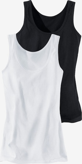 H.I.S Undershirt 'Cotton made in Africa' in black / white, Item view