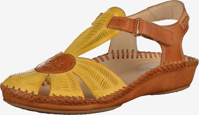 PIKOLINOS Sandale in cognac / gelb, Produktansicht