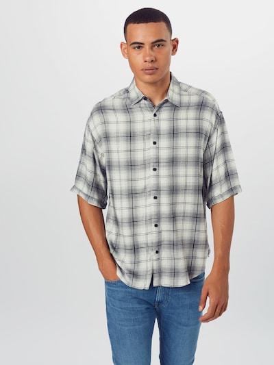 Only & Sons Overhemd 'LOGAN' in de kleur Crème / Zwart: Vooraanzicht