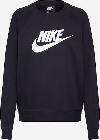 Nike SportswearSweater majica 'Essntl' - crna boja