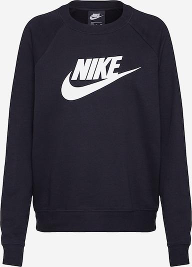 Felpa 'Essntl' Nike Sportswear di colore nero / bianco, Visualizzazione prodotti