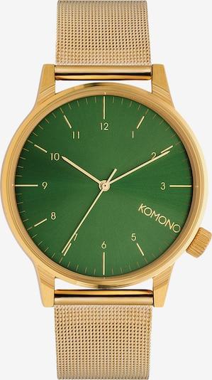 Komono Armbanduhr 'WINSTON ROYALE' in gold / grün, Produktansicht