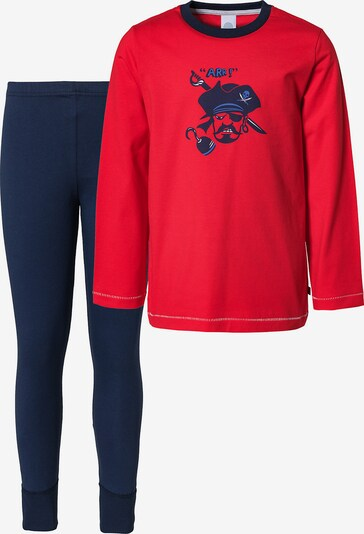 SANETTA Schlafanzug in dunkelblau / rot, Produktansicht
