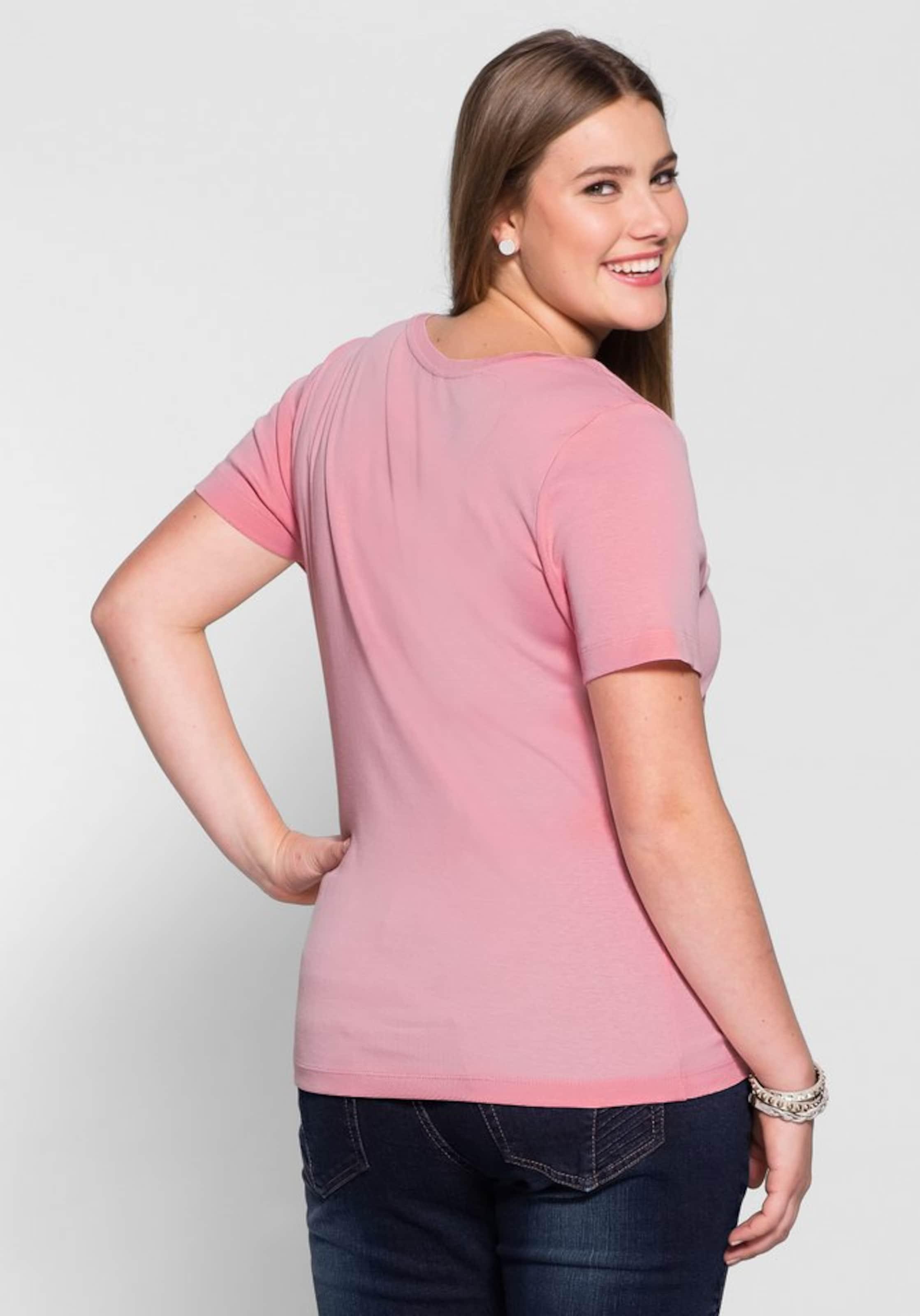 sheego Basic Basic T-Shirt Erkunden Online OM52R