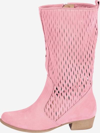 heine Stiefel in rosa: Frontalansicht