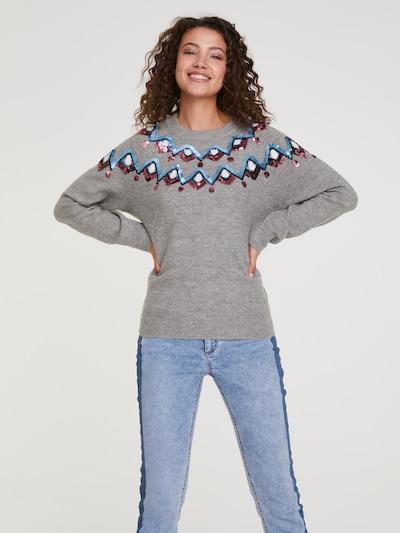 Megztinis iš heine , spalva - margai pilka: Vaizdas iš priekio