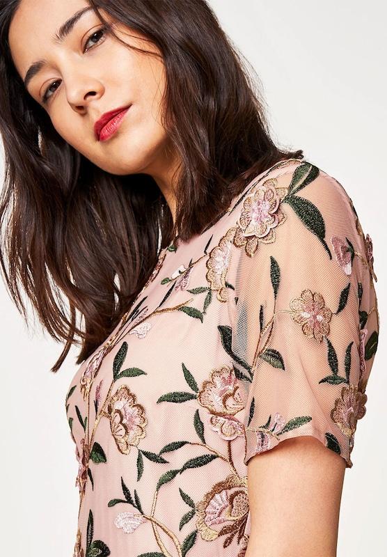 HALLHUBER Mesh-Kleid mit 3D-Blumenstickerei