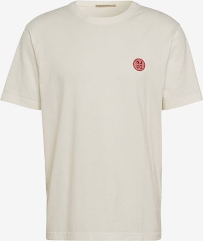 Nudie Jeans Co T-Shirt 'Uno NJCO Circle' in offwhite, Produktansicht