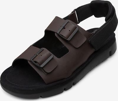 CAMPER Sandalen 'Oruga' in dunkelbraun / schwarz, Produktansicht