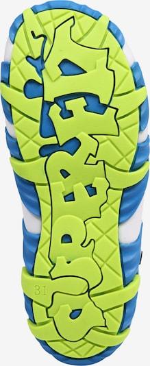 SUPERFIT Sandale 'Mike 2' in blau / neongrün: Ansicht von unten