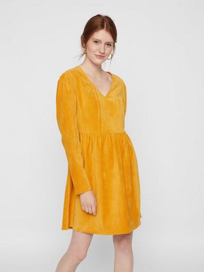 PIECES Kleid in goldgelb, Modelansicht