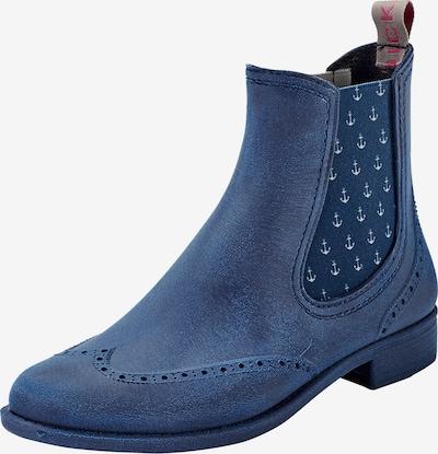 Crickit Chelsea boots 'LILI' in de kleur Blauw: Vooraanzicht
