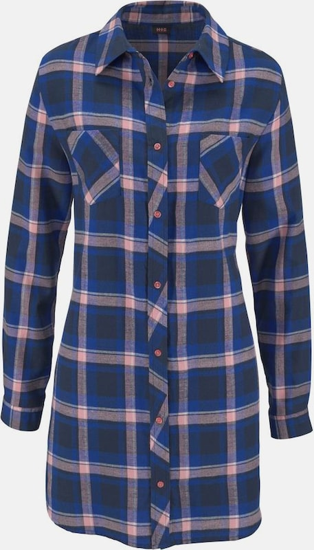 H.I.S H.I.S Nachthemd in klassicher Hemdform mit Karo-Muster