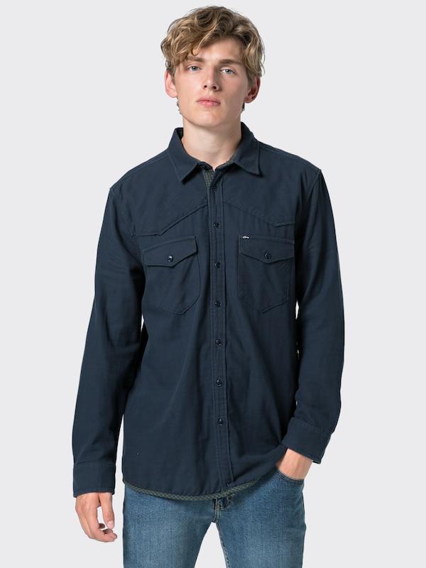 Bleu Chemise Shirt' Ltb En 'femace MarineVert 345jARL