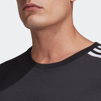 ADIDAS PERFORMANCE Funktionsshirt in schwarz / weiß: Frontalansicht