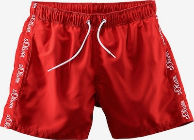 s.Oliver Badeshorts in rot, Produktansicht