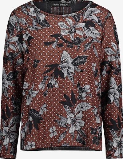 Betty Barclay Sweatpullover in ocker / graumeliert / schwarz, Produktansicht