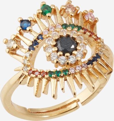 Inele 'Sparkling Rainbow Eye' We Are Flowergirls pe auriu / culori mixte, Vizualizare produs