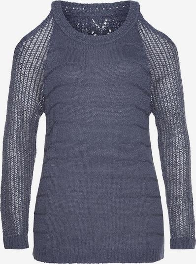 LASCANA Strandpullover in violettblau, Produktansicht