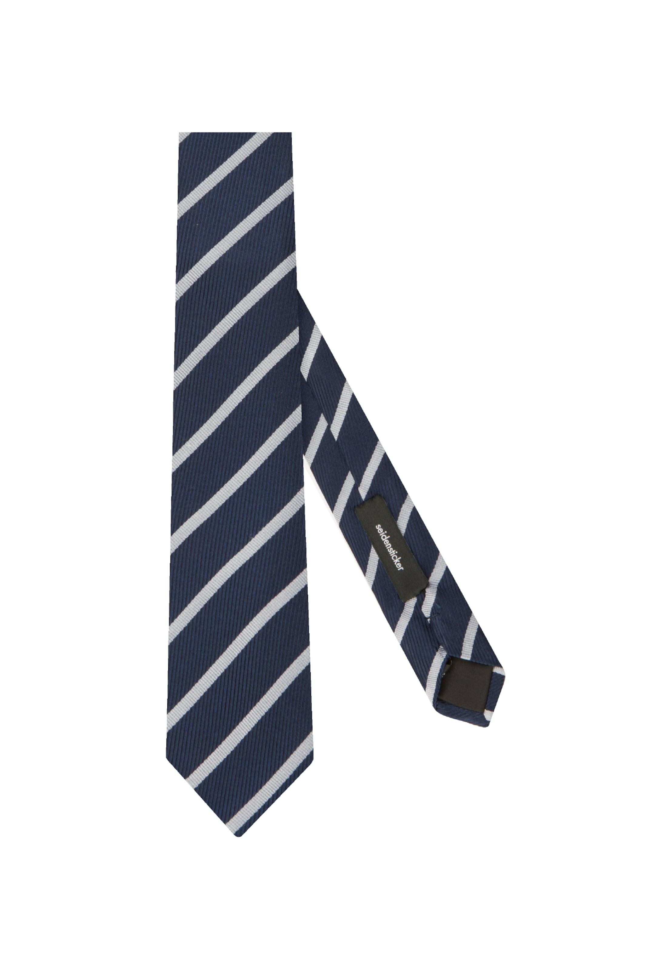 Krawatte DunkelblauWeiß In Seidensticker Rose' 'schwarze OuwikXlPZT