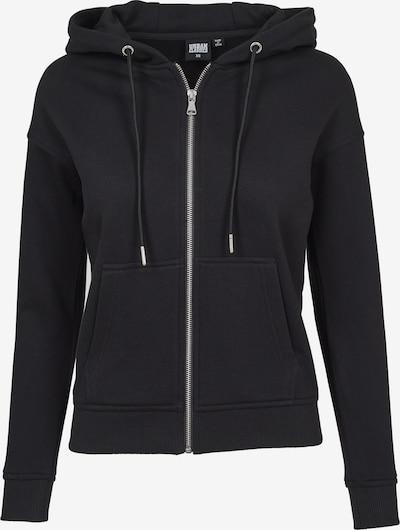Urban Classics Hoodie Classic Zip in schwarz, Produktansicht