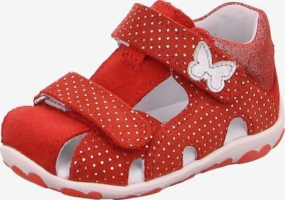 SUPERFIT Sandale 'Fanni' in rot / weiß, Produktansicht