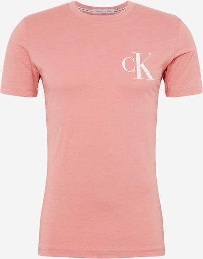 Tricou Calvin Klein Jeans pe oliv / roz / alb, Vizualizare produs