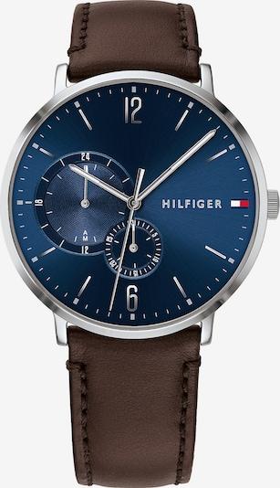 TOMMY HILFIGER Uhr in navy / braun / silber, Produktansicht