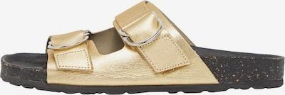 Bianco Ledersandalen in gold, Produktansicht