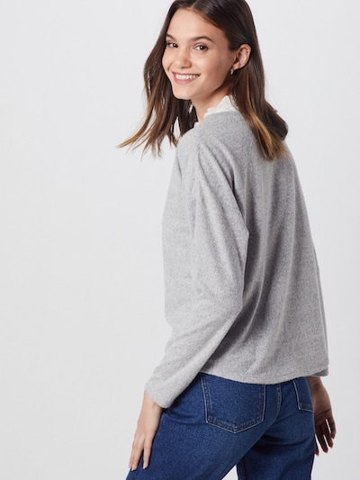 ONLY Sweter 'ASHLEY' w kolorze jasnoszary / białym: Widok od tyłu