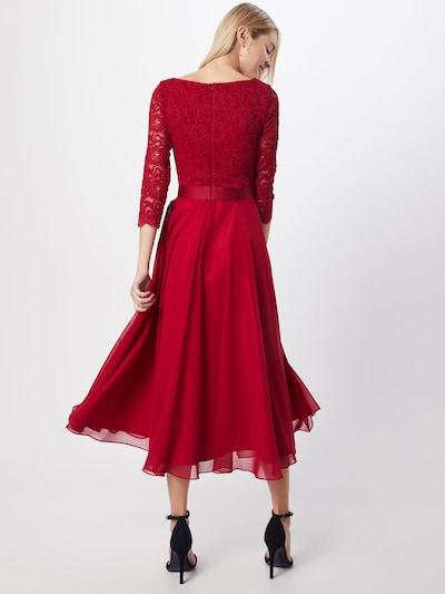 SWING Suknia wieczorowa w kolorze czerwone winom: Widok od tyłu