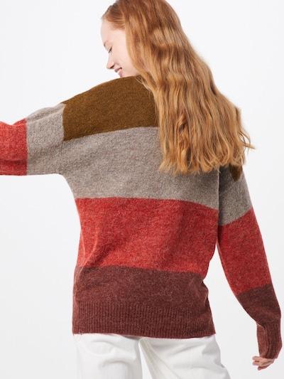 ICHI Džemperis 'AMARA LS6' pieejami jauktu krāsu / sarkans: Aizmugures skats