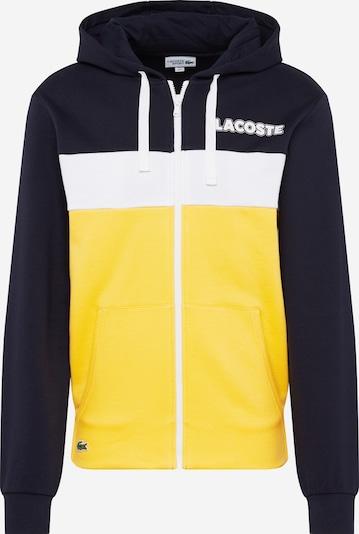 LACOSTE Sweat-shirt en bleu marine / jaune / blanc: Vue de face