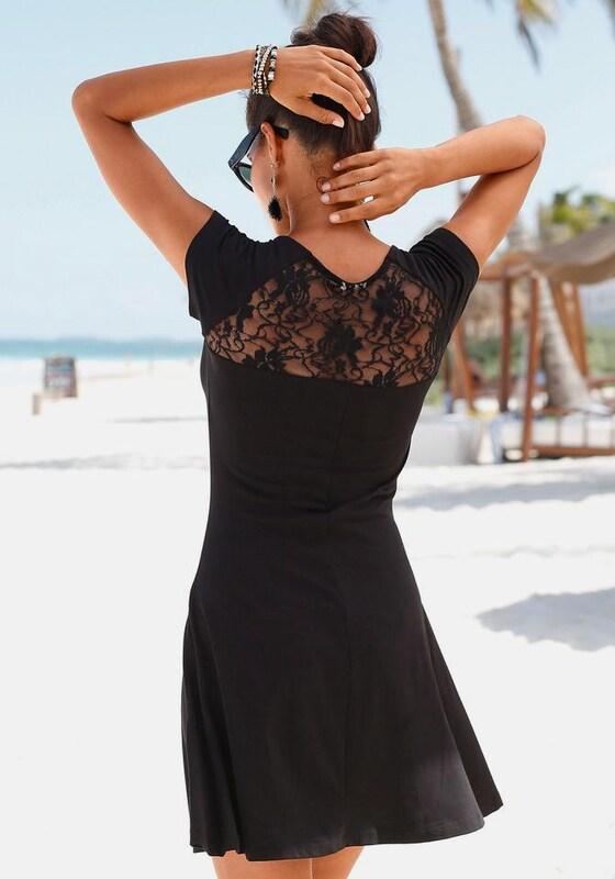 BEACH TIME Strandkleid mit Spitze im Rücken