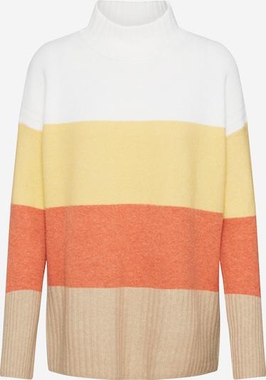 ESPRIT Trui in de kleur Geel / Sinaasappel / Wit, Productweergave