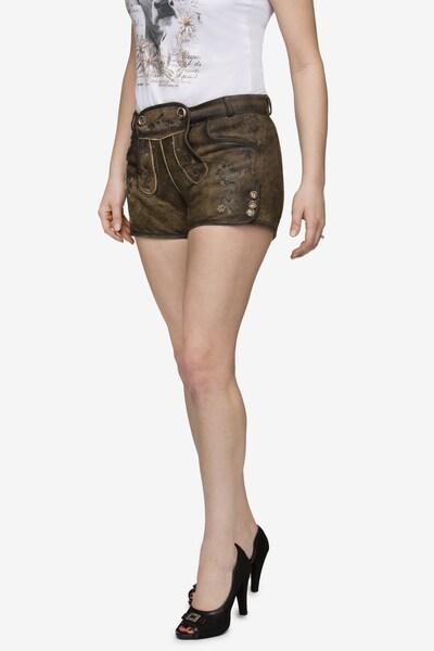 STOCKERPOINT Hose 'Rosy' in braun, Modelansicht