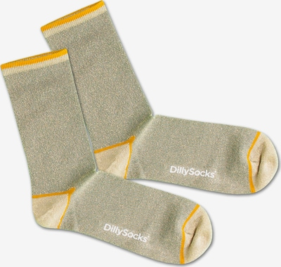 DillySocks Socken 'Sweet Playground' in gelb / grün, Produktansicht