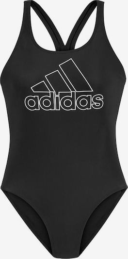 Costum de baie sport ADIDAS PERFORMANCE pe negru / alb, Vizualizare produs