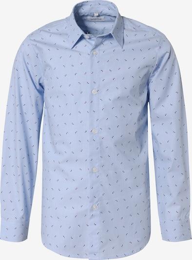 WEISE Hemd in enzian / hellblau / rot, Produktansicht