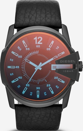 DIESEL Armbanduhr 'MASTER CHIEF' in rot / schwarz, Produktansicht