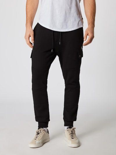 POLO RALPH LAUREN Cargo hlače 'CARGOJOGGRM5-CARGO-PANT' u crna, Prikaz modela