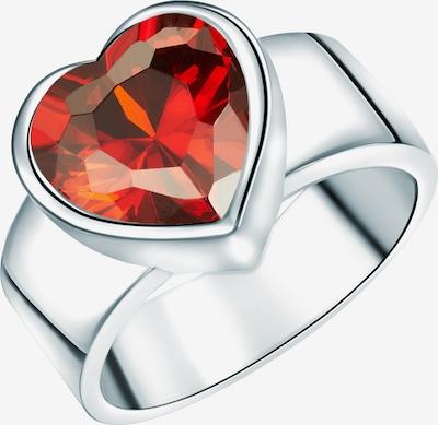 Rafaela Donata Ring 'Herzform' in rot / silber, Produktansicht