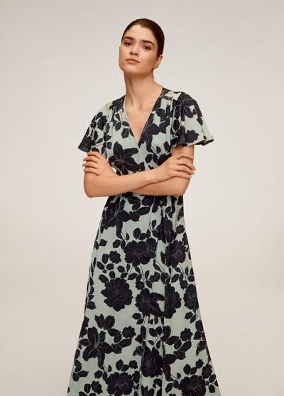 MANGO Kleid 'Aqua' in pastellgrün / schwarz, Modelansicht