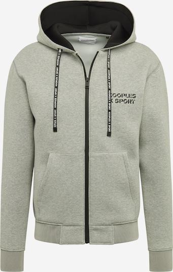THE KOOPLES SPORT Sweatjacke in grau / schwarz, Produktansicht