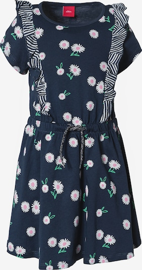 s.Oliver Kleid in nachtblau / jade / weiß, Produktansicht
