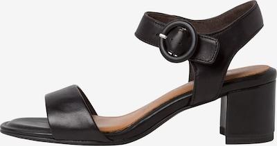 TAMARIS Sandalette in hellbraun / schwarz, Produktansicht