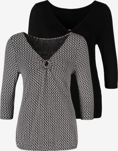LASCANA Shirt in schwarz / weiß, Produktansicht
