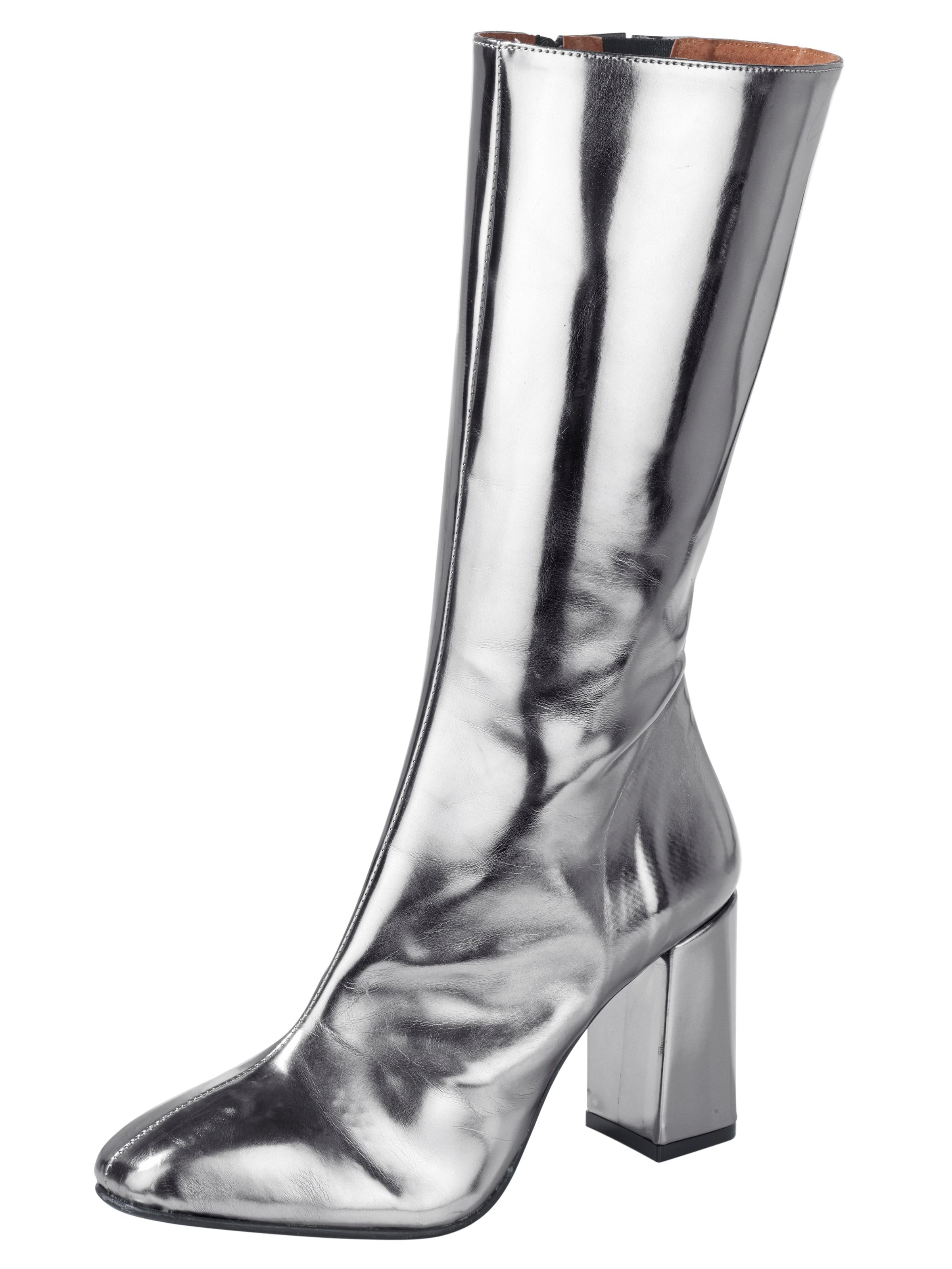 heine Stiefel im Metallic-Look