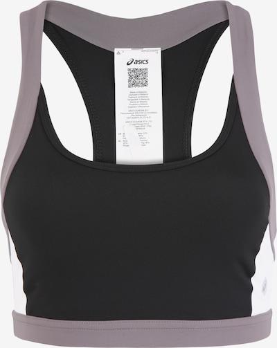 ASICS Sport bh 'COLOR BLOCK BRA 2' in de kleur Grijs / Zwart / Wit, Productweergave
